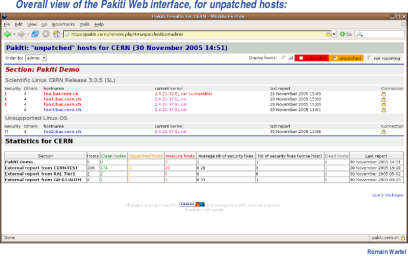 Pakiti server view 9